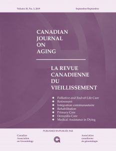 Canadian Journal on Aging