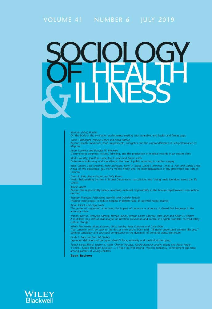 Sociology of Health & Illness Monograph